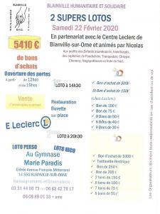 Affiche lotos du 22 février 2020